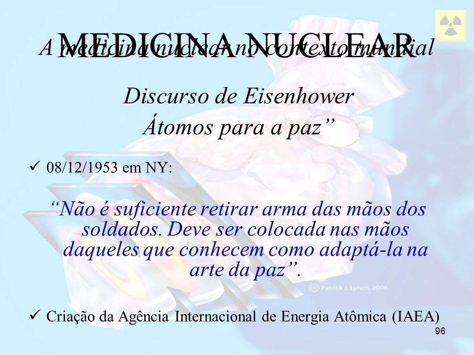 MEDICINA NUCLEAR A medicina nuclear no contexto mundial