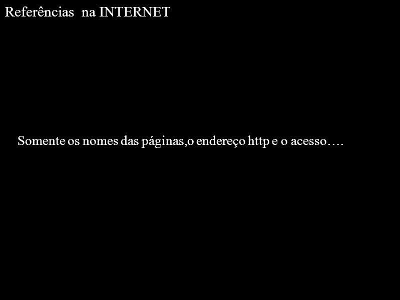 Referências na INTERNET