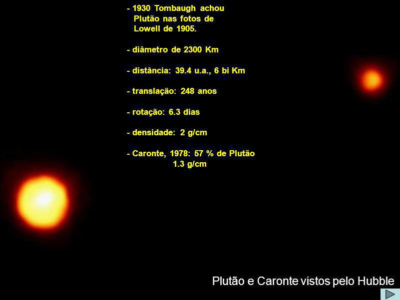 Plutão e Caronte vistos pelo Hubble