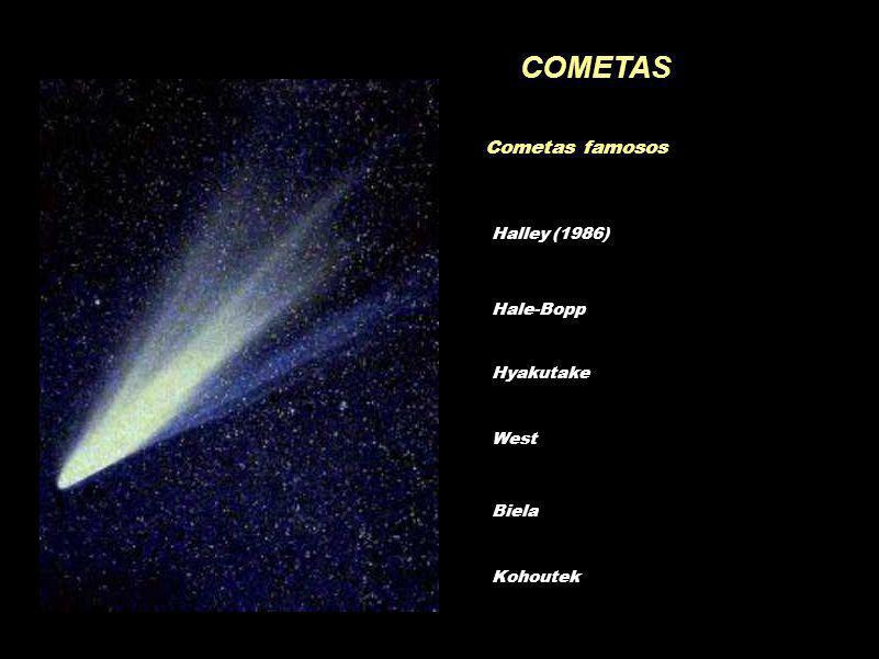 COMETAS Cometas famosos Halley (1986) Hale-Bopp Hyakutake West Biela