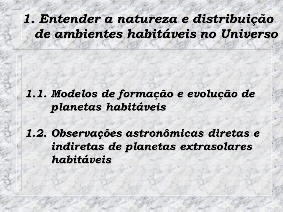 1. Entender a natureza e distribuição