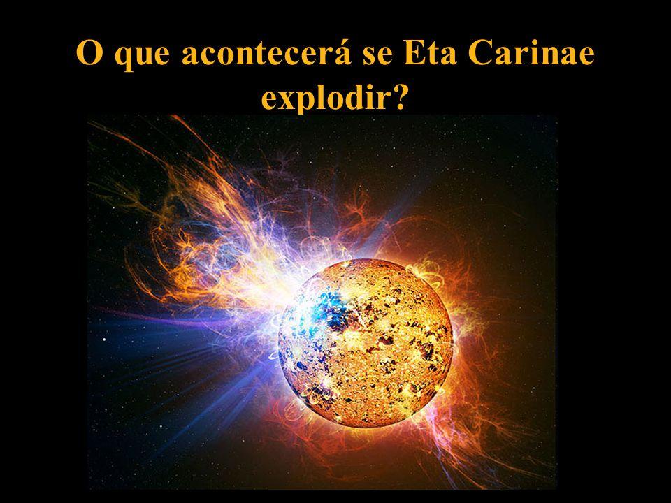 O que acontecerá se Eta Carinae explodir