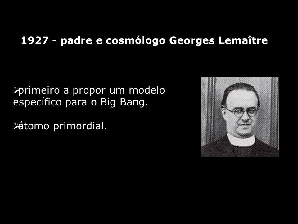 1927 - padre e cosmólogo Georges Lemaître