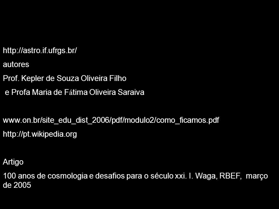 http://astro.if.ufrgs.br/ autores. Prof. Kepler de Souza Oliveira Filho. e Profa Maria de Fátima Oliveira Saraiva.
