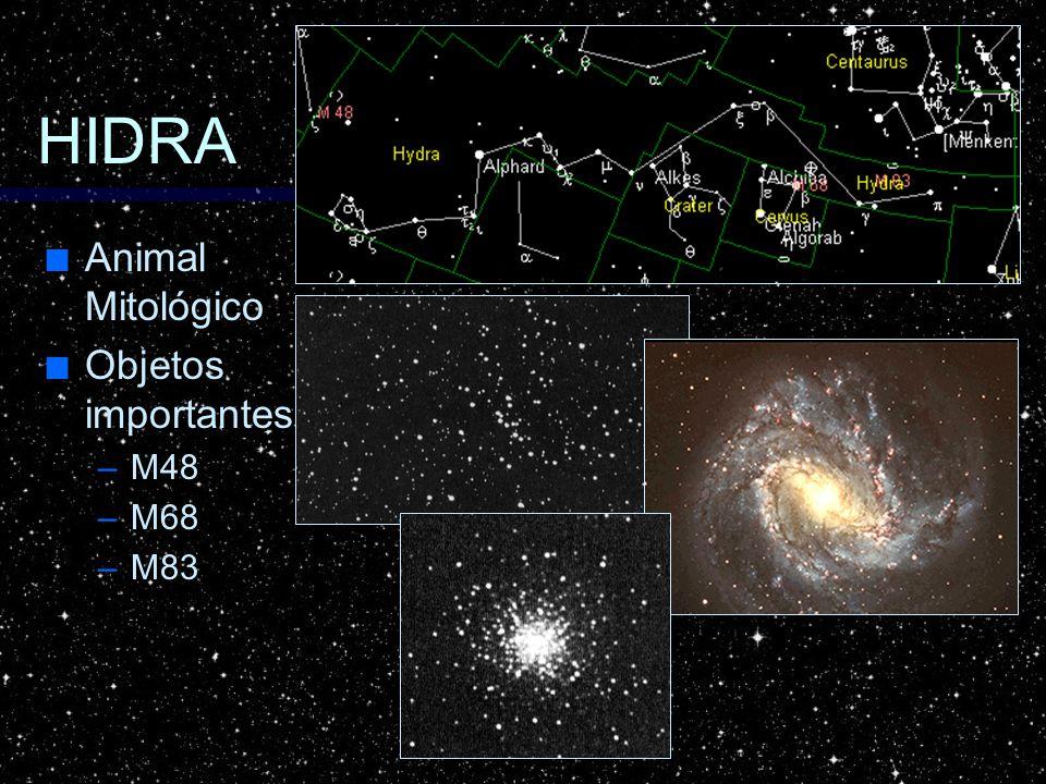 HIDRA Animal Mitológico Objetos importantes M48 M68 M83