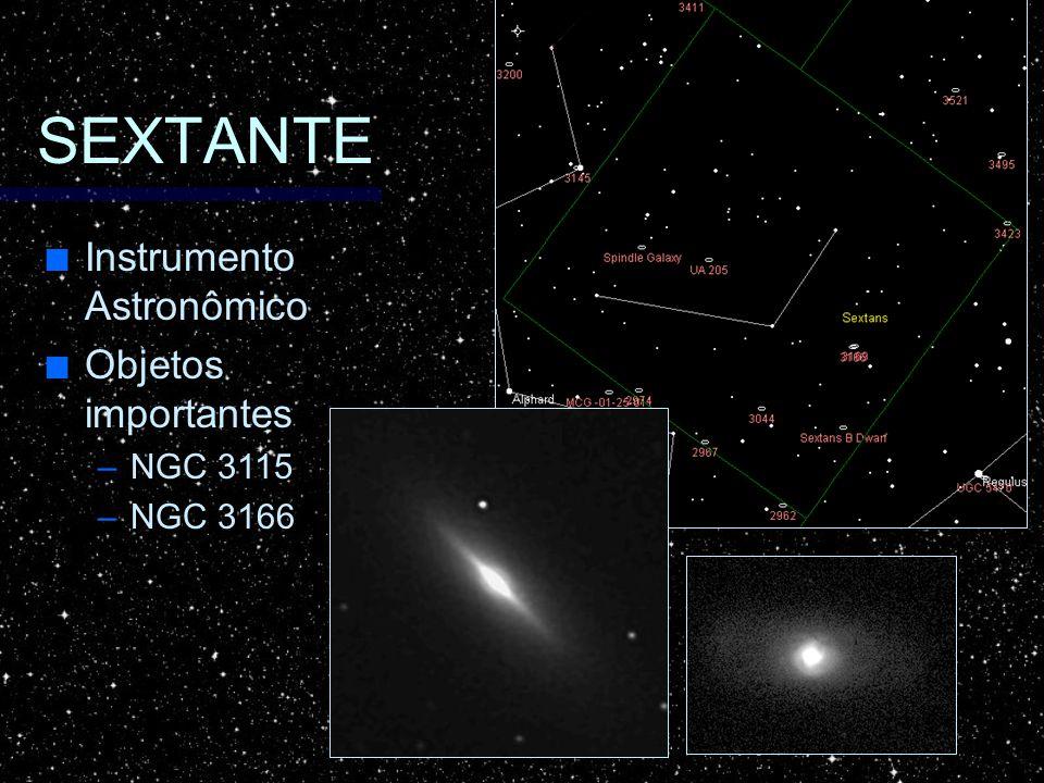 SEXTANTE Instrumento Astronômico Objetos importantes NGC 3115 NGC 3166
