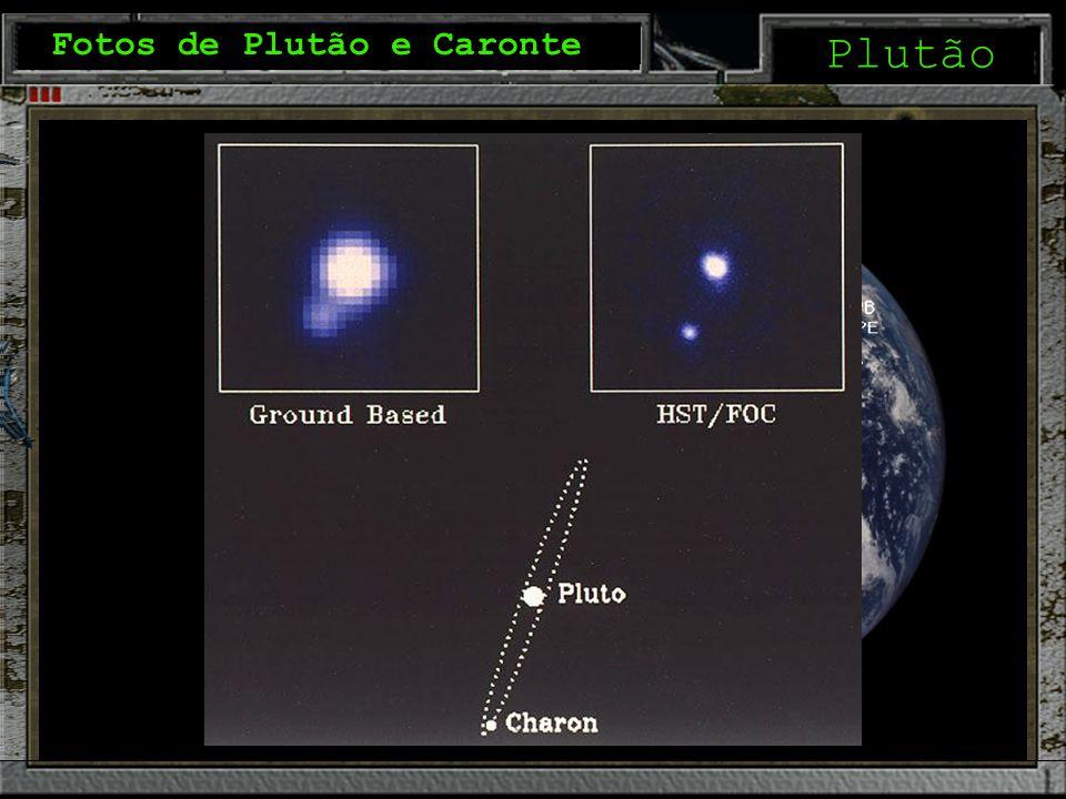 Plutão Fotos de Plutão e Caronte Comparando tamanhos
