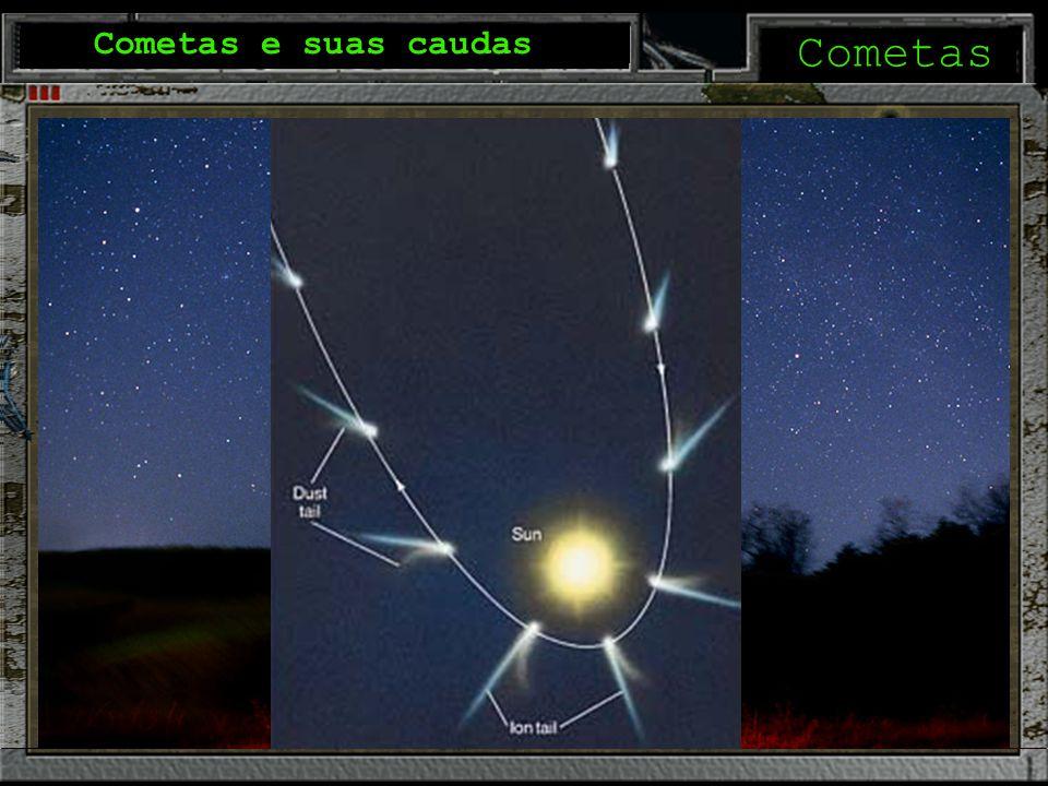 Cometas Cometas e suas caudas