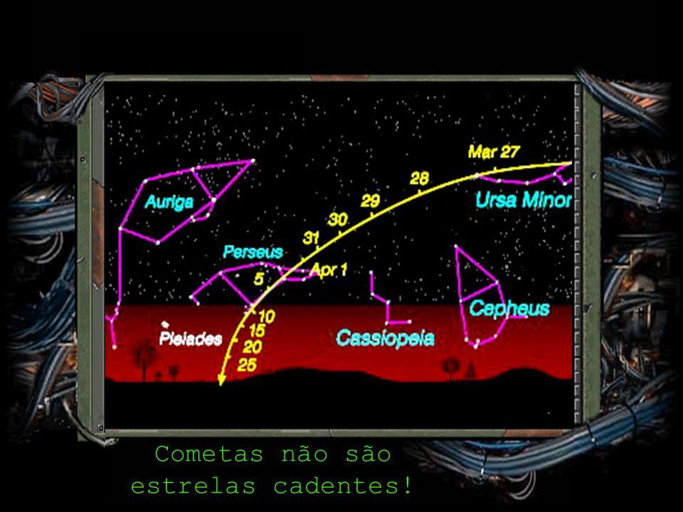 Cometas não são estrelas cadentes!