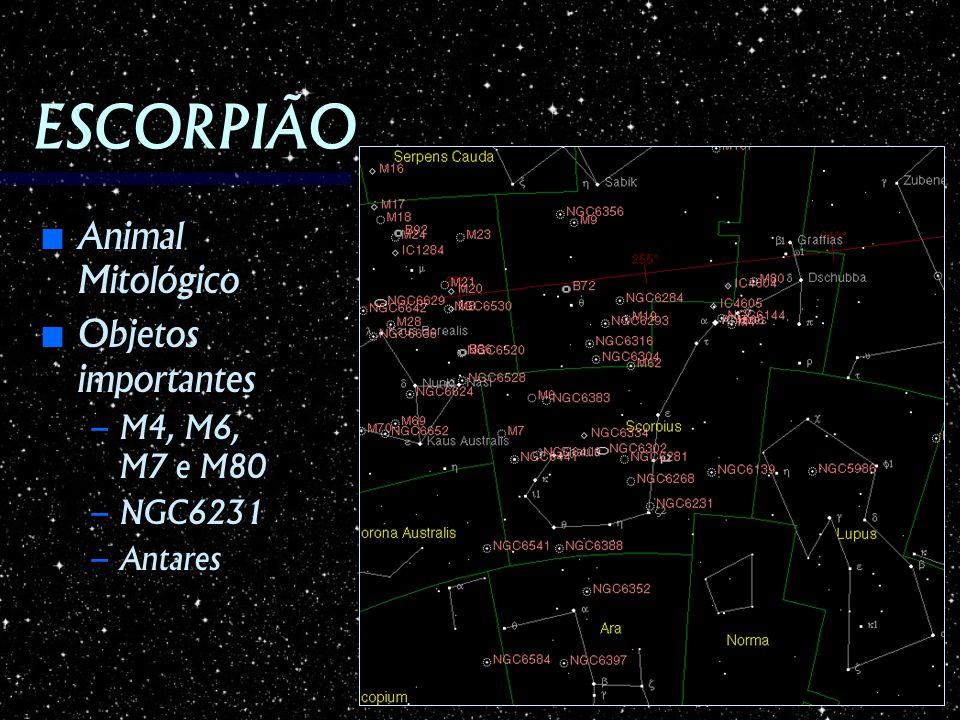ESCORPIÃO Animal Mitológico Objetos importantes M4, M6, M7 e M80