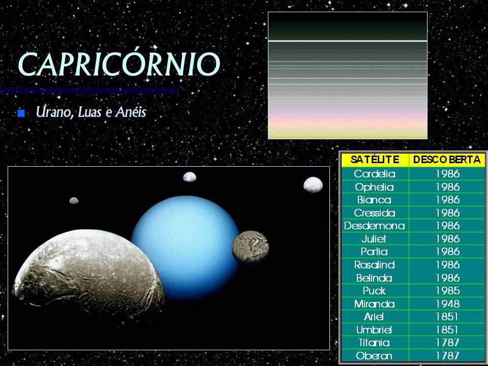 CAPRICÓRNIO Urano, Luas e Anéis