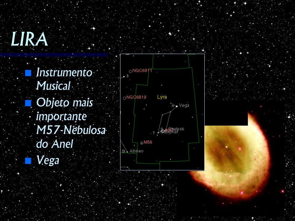 LIRA Instrumento Musical Objeto mais importante M57-Nebulosa do Anel