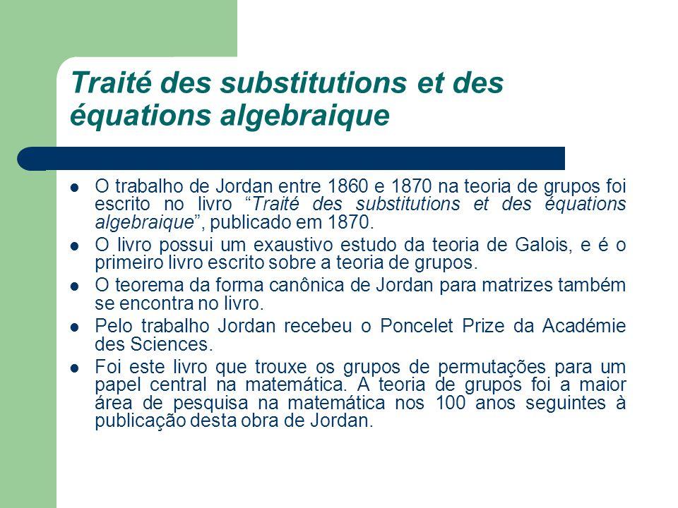 Traité des substitutions et des équations algebraique
