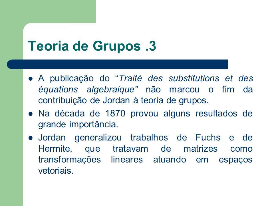 Teoria de Grupos .3