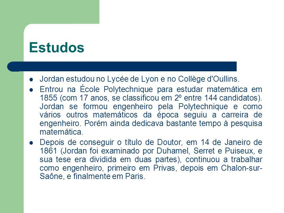 Estudos Jordan estudou no Lycée de Lyon e no Collège d Oullins.
