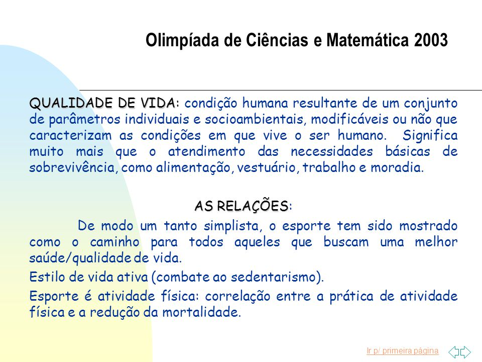 Olimpíada de Ciências e Matemática 2003
