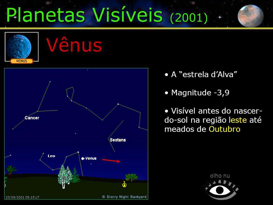 Planetas Visíveis (2001) Vênus A estrela d'Alva Magnitude -3,9
