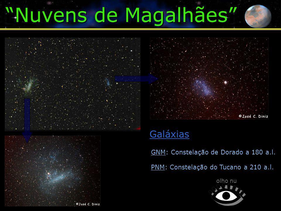 Nuvens de Magalhães Galáxias GNM: Constelação de Dorado a 180 a.l.