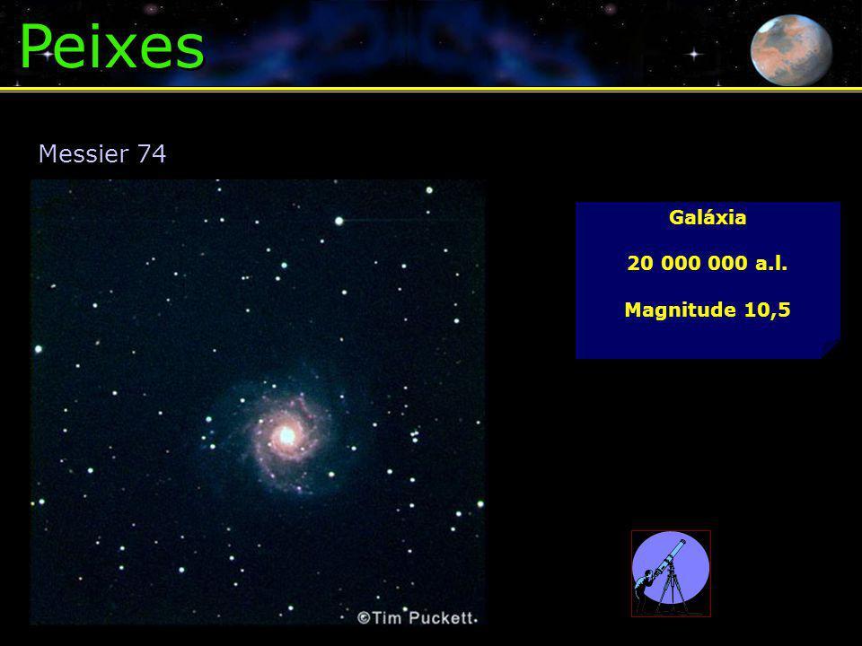 Peixes Messier 74 Galáxia 20 000 000 a.l. Magnitude 10,5