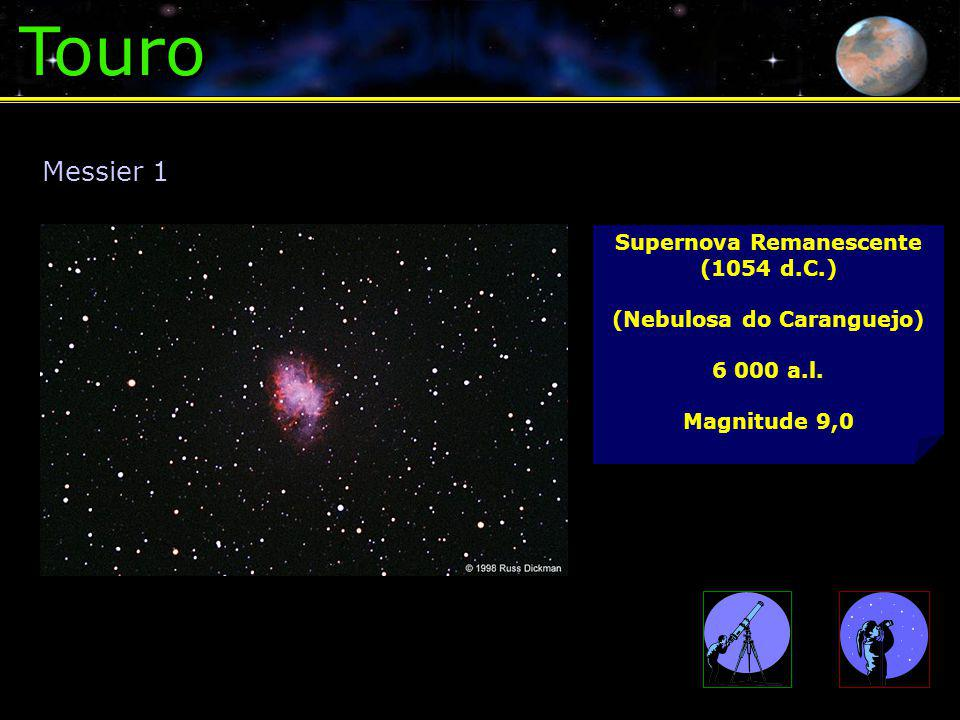 Supernova Remanescente (1054 d.C.) (Nebulosa do Caranguejo)