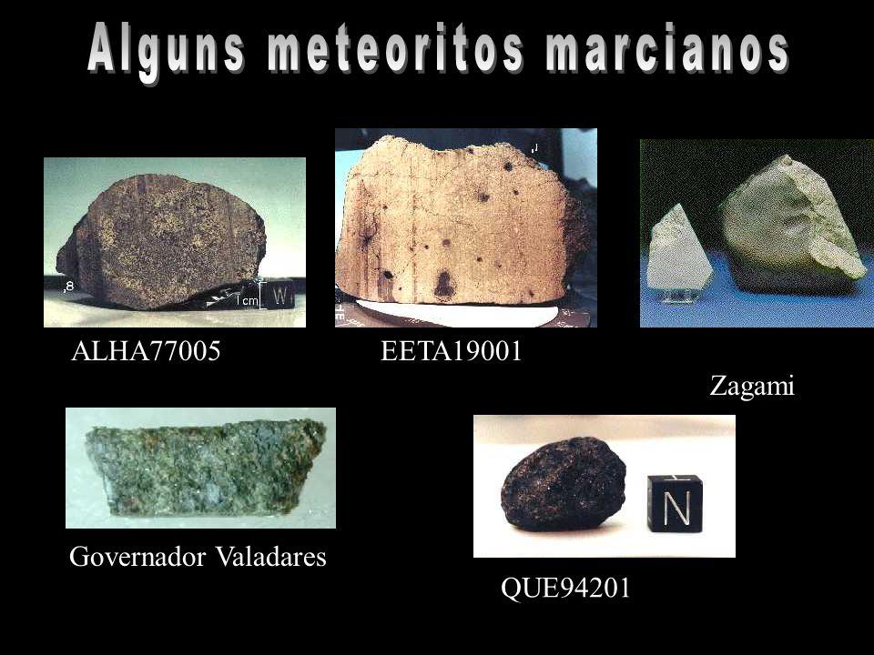 Alguns meteoritos marcianos