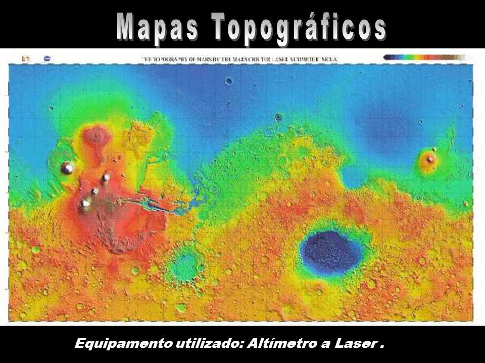 Mapas Topográficos Equipamento utilizado: Altímetro a Laser .