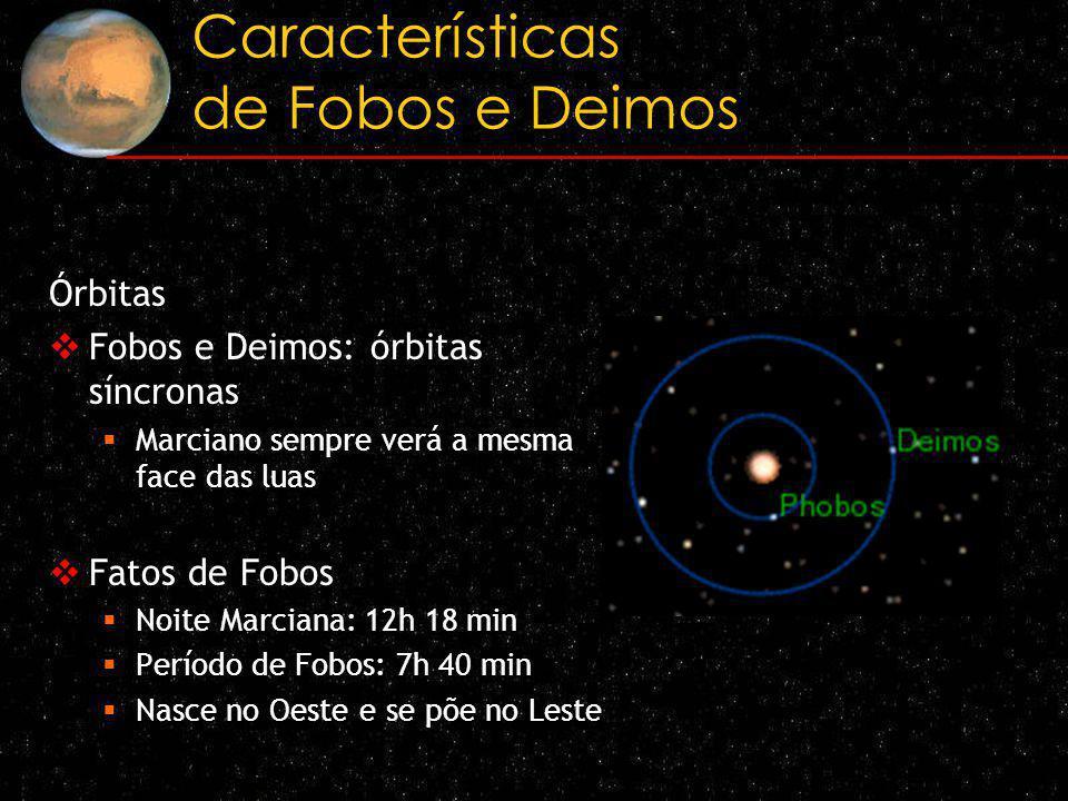 Características de Fobos e Deimos
