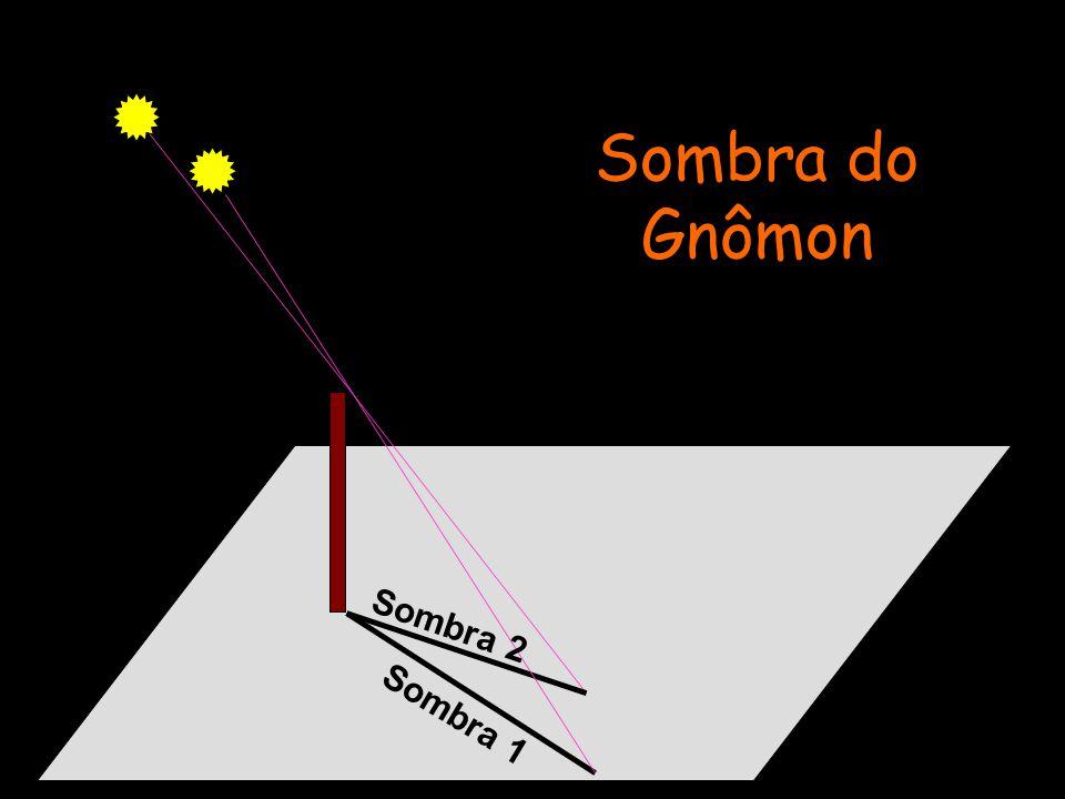 Sombra do Gnômon Sombra 2 Sombra 1