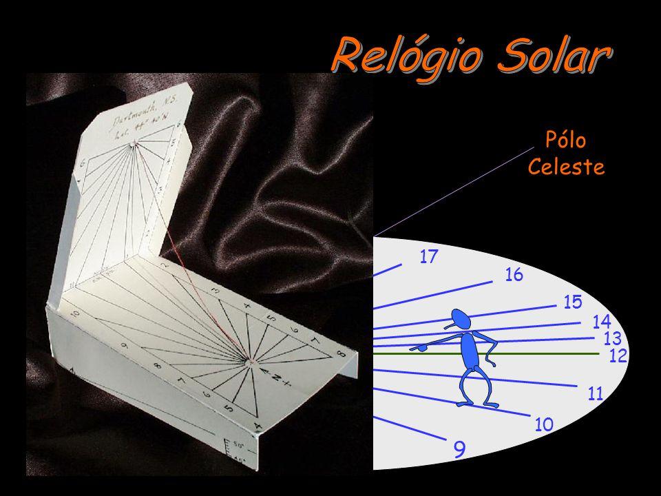 Relógio Solar Pólo Celeste 18 17 16 15 14 13 12 11 6 10 9 7 8