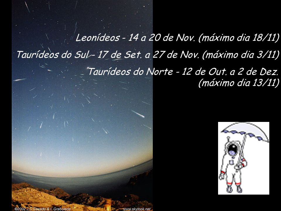 Leonídeos - 14 a 20 de Nov. (máximo dia 18/11)