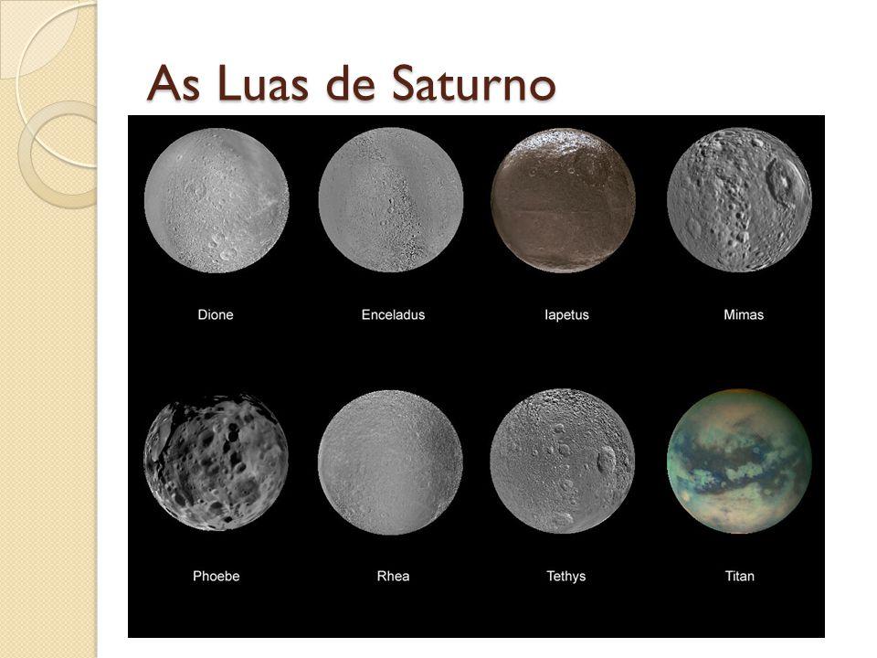 As Luas de Saturno Fonte da imagem: http://www.racecarpark.com/models/Saturn.php v=76145