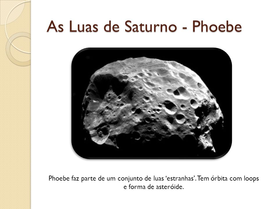 As Luas de Saturno - Phoebe