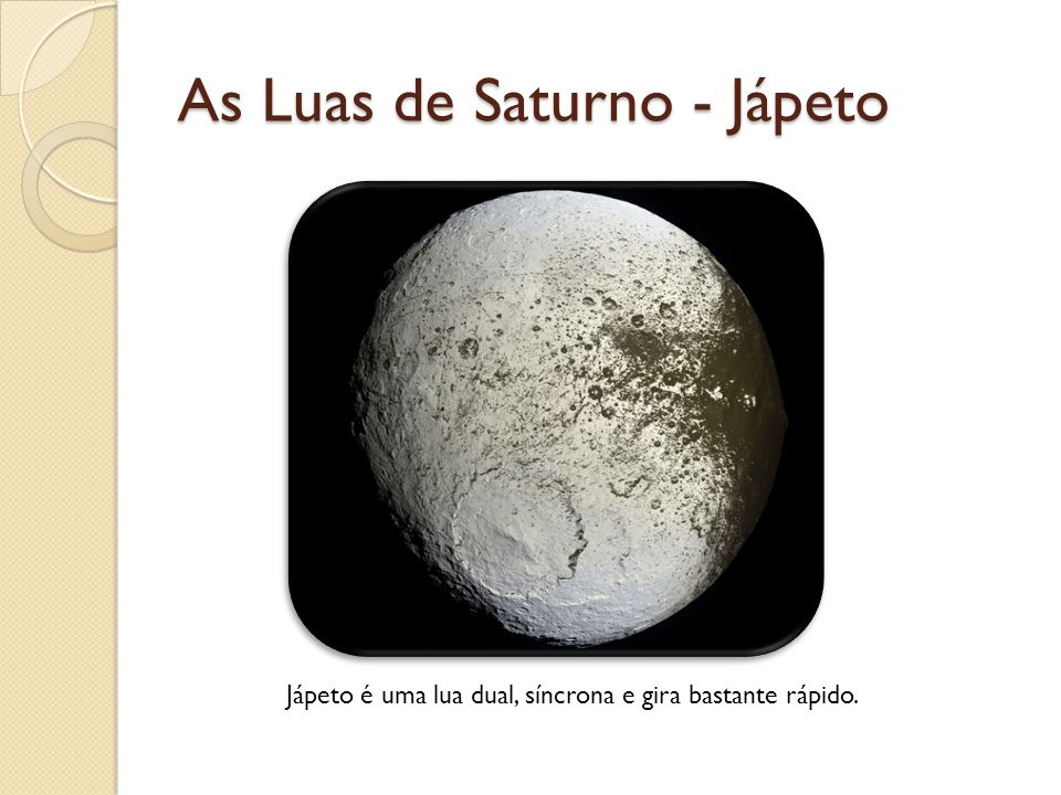 As Luas de Saturno - Jápeto