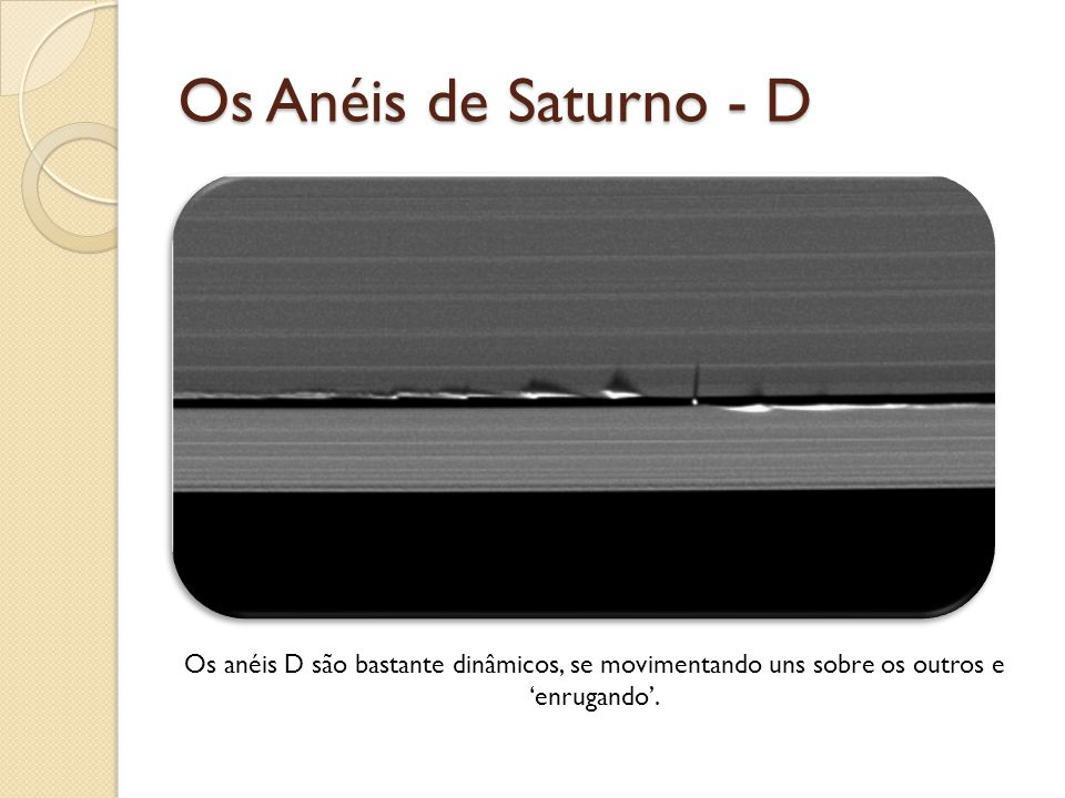 Os Anéis de Saturno - D Fonte da imagem: http://blogs.discovermagazine.com/badastronomy/2009/06/11/saturns-rings-do-the-wave/