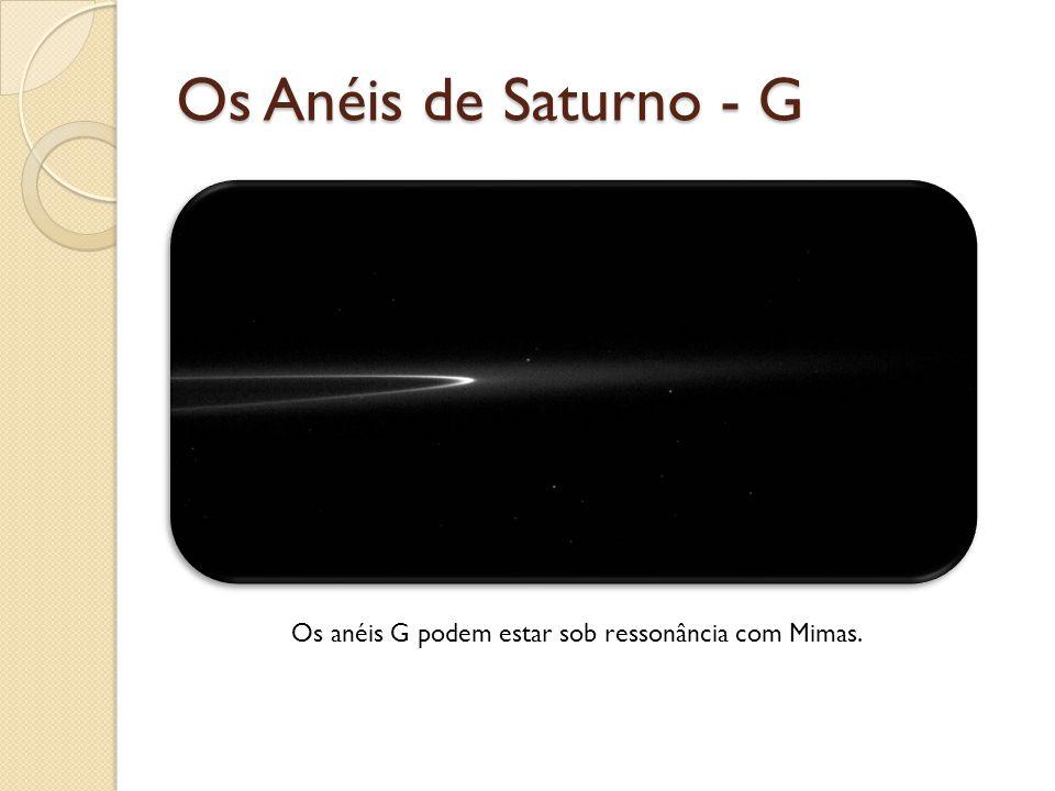 Os anéis G podem estar sob ressonância com Mimas.