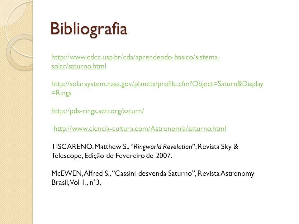 Bibliografia http://www.cdcc.usp.br/cda/aprendendo-basico/sistema-solar/saturno.html.