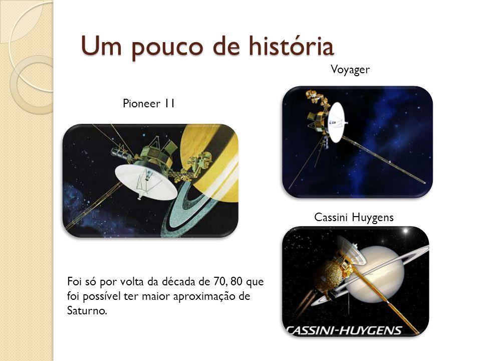 Um pouco de história Voyager Pioneer 11 Cassini Huygens