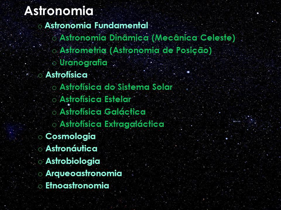 Astronomia Astronomia Dinâmica (Mecânica Celeste)