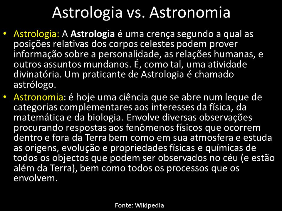 Astrologia vs. Astronomia