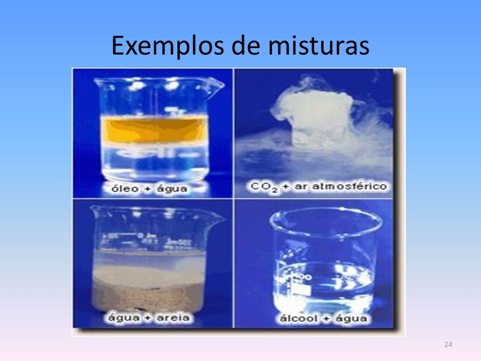 Exemplos de misturas Núcleo de Estágio de Física e Química 1
