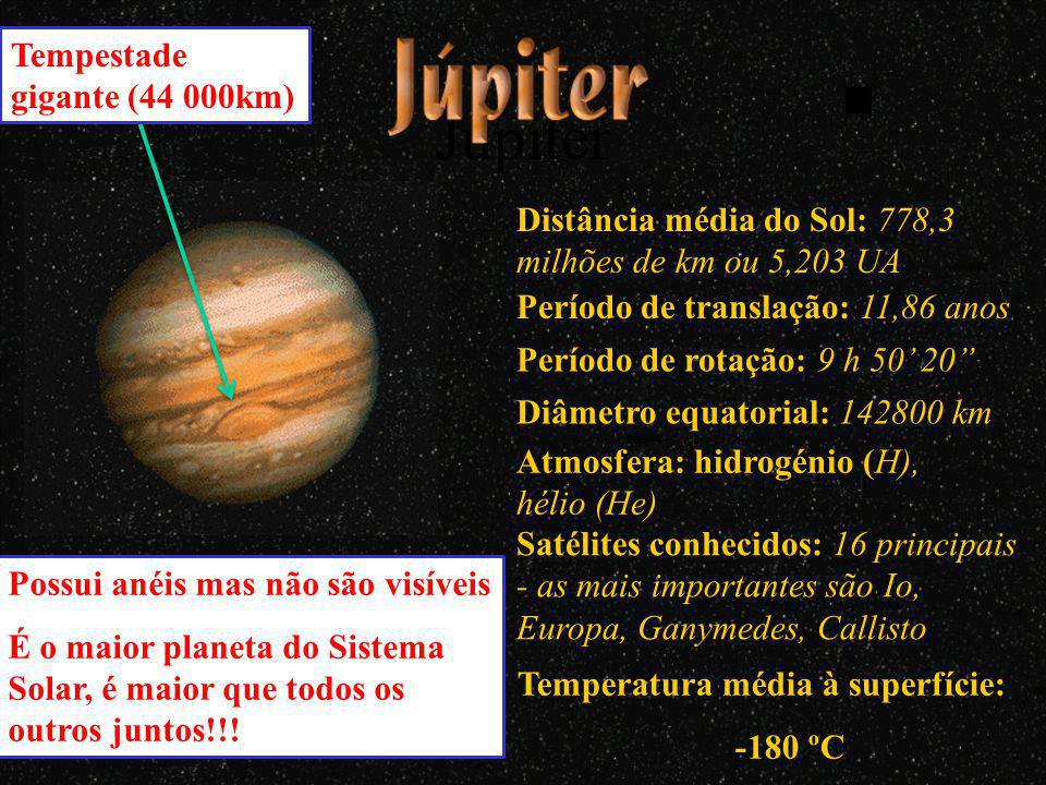 Júpiter Tempestade gigante (44 000km)