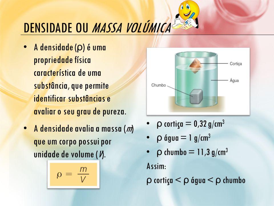 Densidade ou massa volúmica