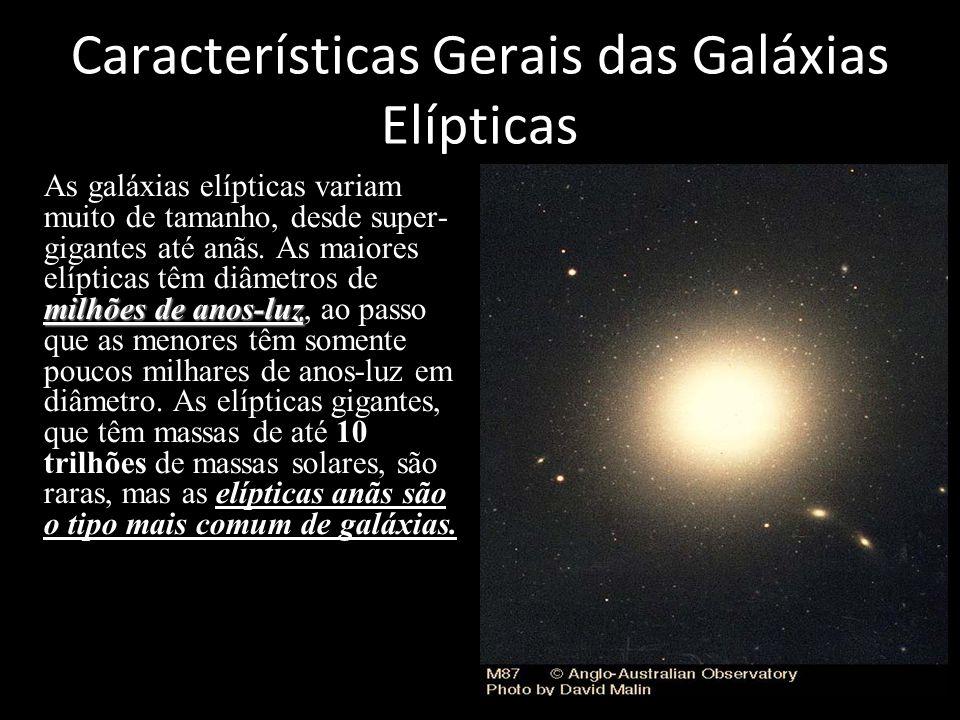 Características Gerais das Galáxias Elípticas