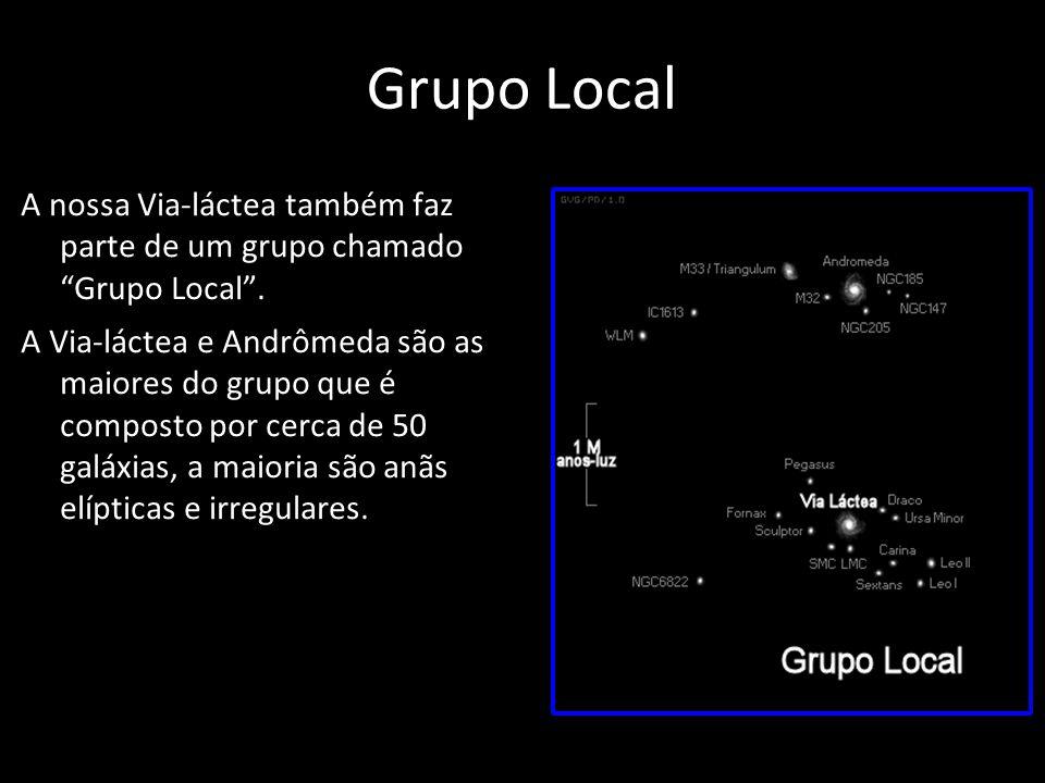 Grupo Local A nossa Via-láctea também faz parte de um grupo chamado Grupo Local .