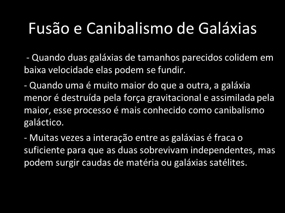 Fusão e Canibalismo de Galáxias