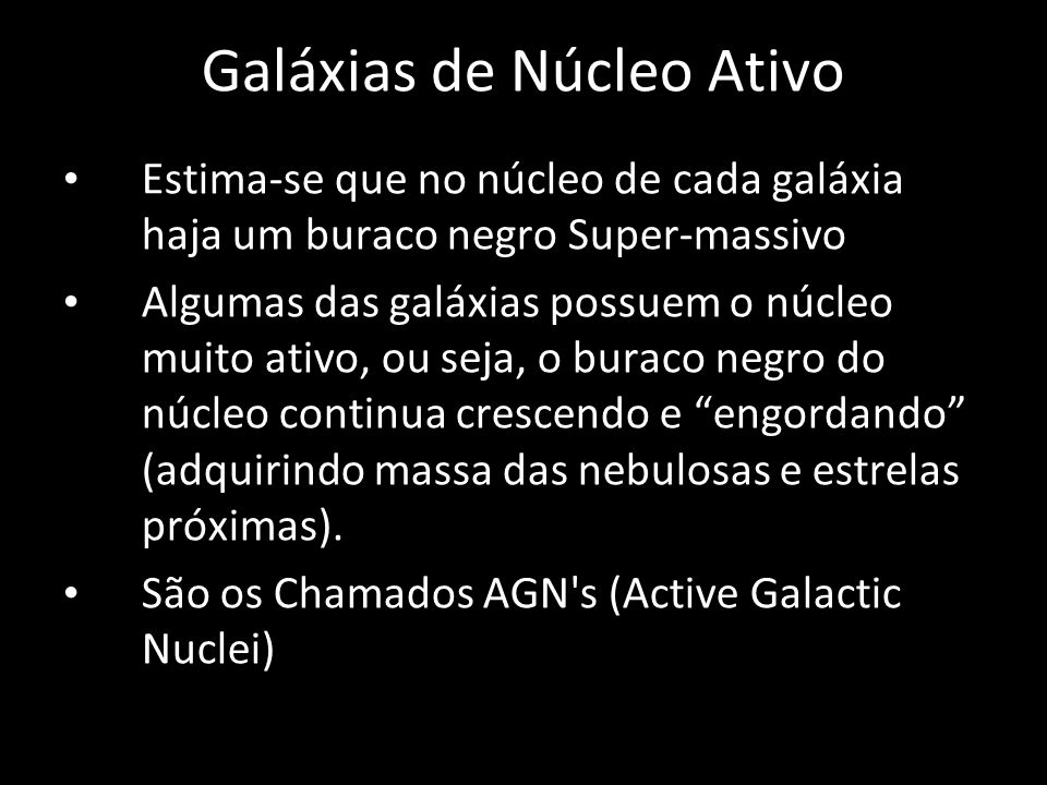 Galáxias de Núcleo Ativo