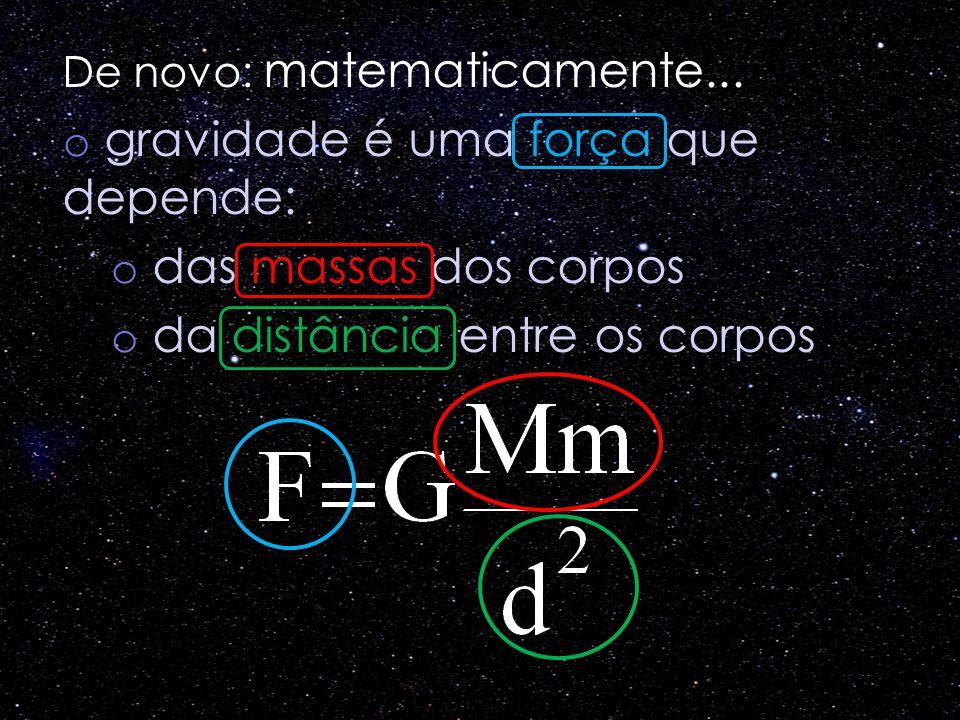 gravidade é uma força que depende: das massas dos corpos