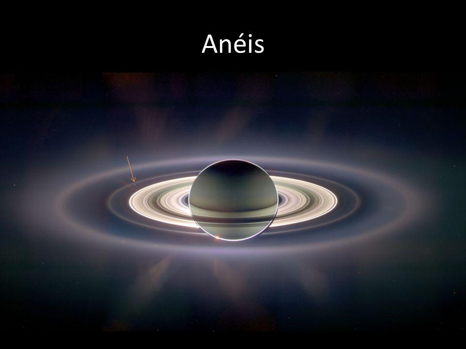 Anéis O ponto que aparece em destaque neste slide se trata do planeta Terra. Anéis completos de Saturno: Mais de 10 000 anéis!