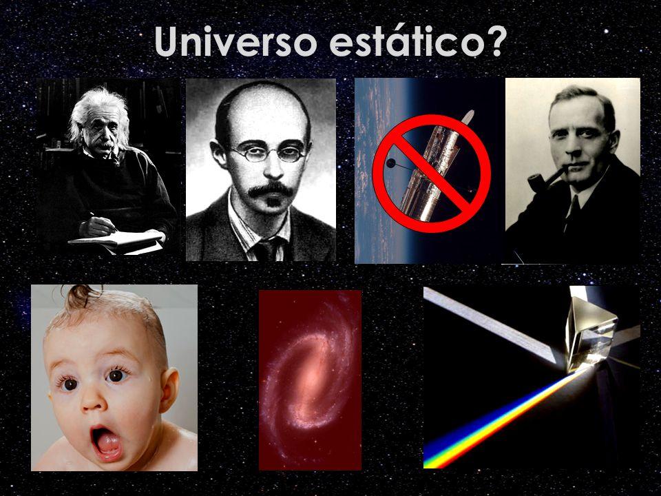 Universo estático Crédito das imagens: Einstein http://www.trekbrasilis.org. Friedmann: portaldoastronomo.org.