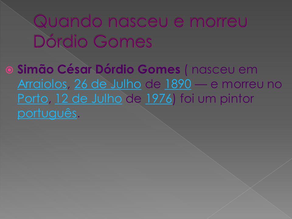 Quando nasceu e morreu Dórdio Gomes